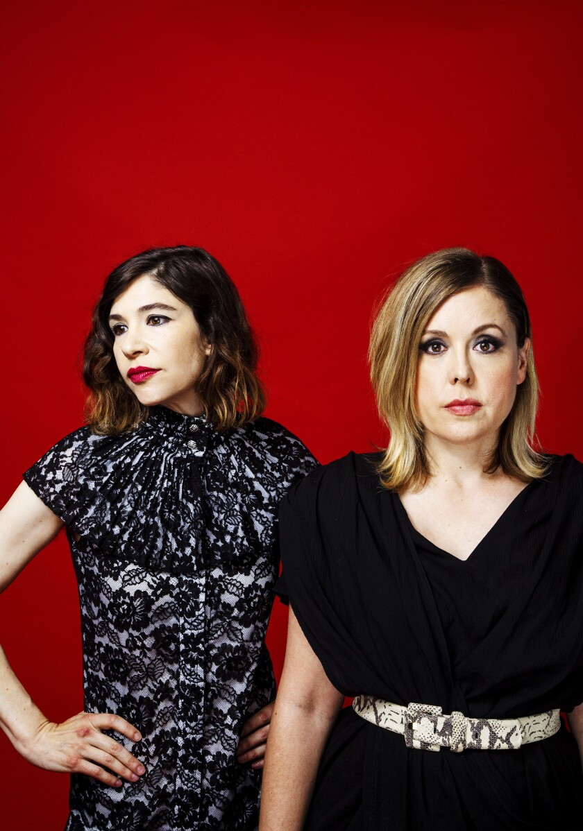 Carrie Brownstein, left, and Corin Tucker of Sleater-Kinney