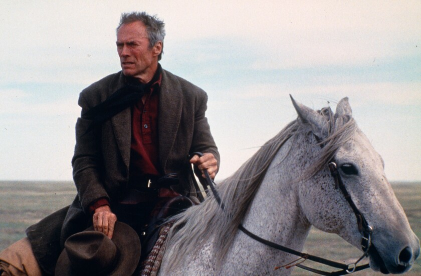 """Clint Eastwood in horseback in the movie """"Unforgiven"""""""