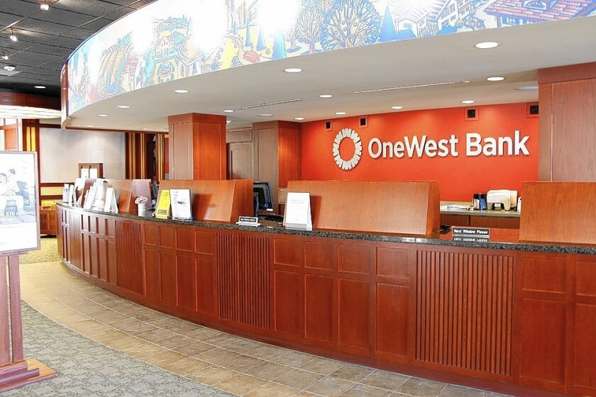 OneWest Bank in Pasadena has agreed to join with commercial lender CIT Group Inc.