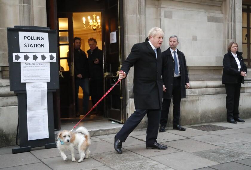 British Prime Minister Boris Johnson arrives at Downing Street