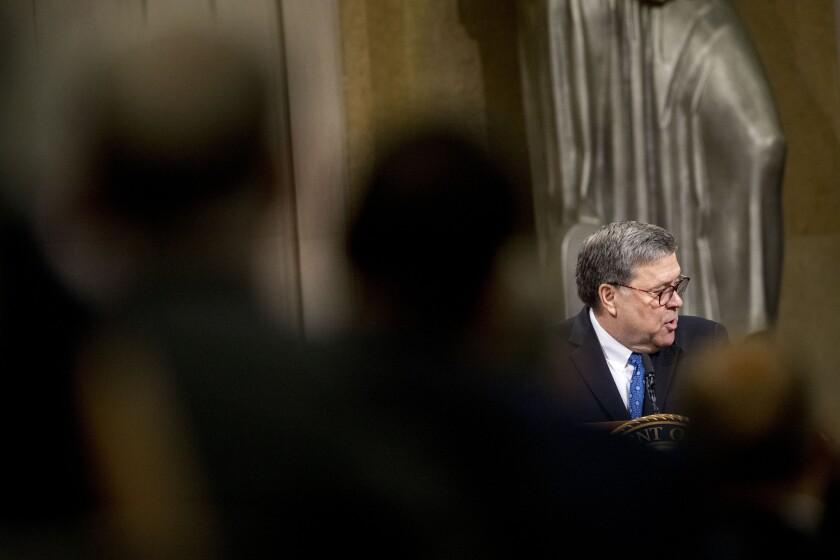 Atty. Gen. William Barr in 2019.