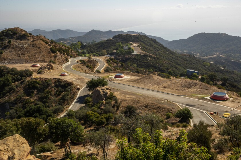 Firefighting base 69 Bravo in the Santa Monica Mountains.