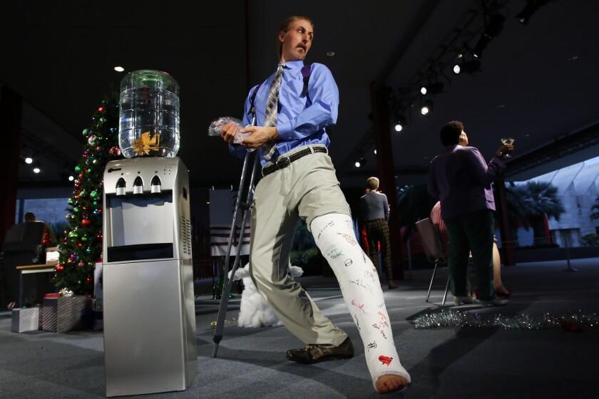 "Not awkward at all. Alex Prager's sculptural installation, ""Farewell, Work Holiday Parties."""