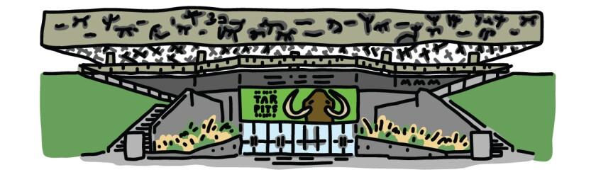 Illustration of the La Brea tar museum