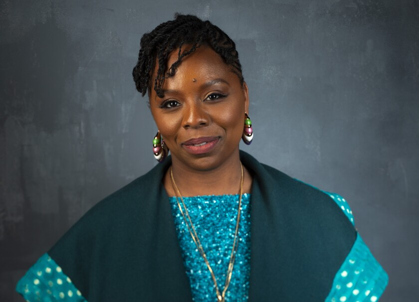 Patrisse Cullors, co-founder of Black Lives Matter, photographed at the Sundance Film Festival, in Park City, Utah on Jan. 29, 2019.