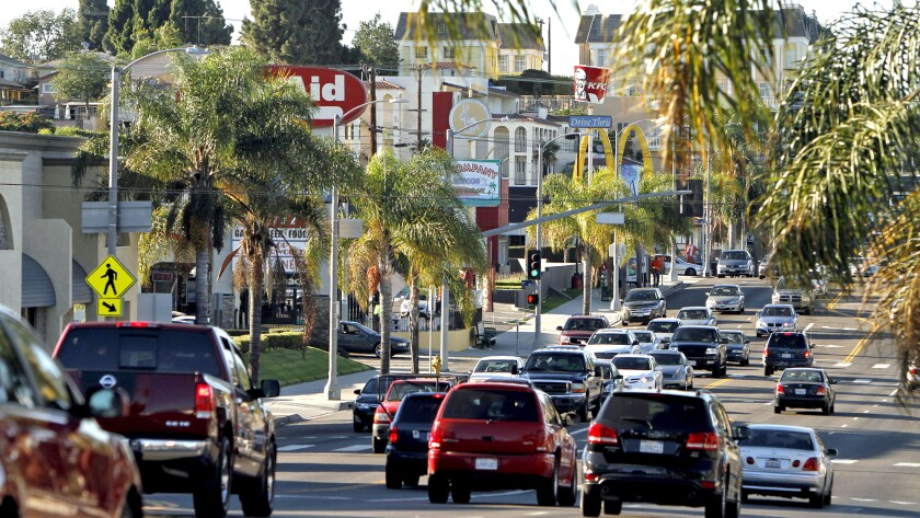 """Mayor Eric Garcetti hopes to transform major thoroughfares into hubs of neighborhood activity in a process the mayor describes as """"urban acupuncture."""""""
