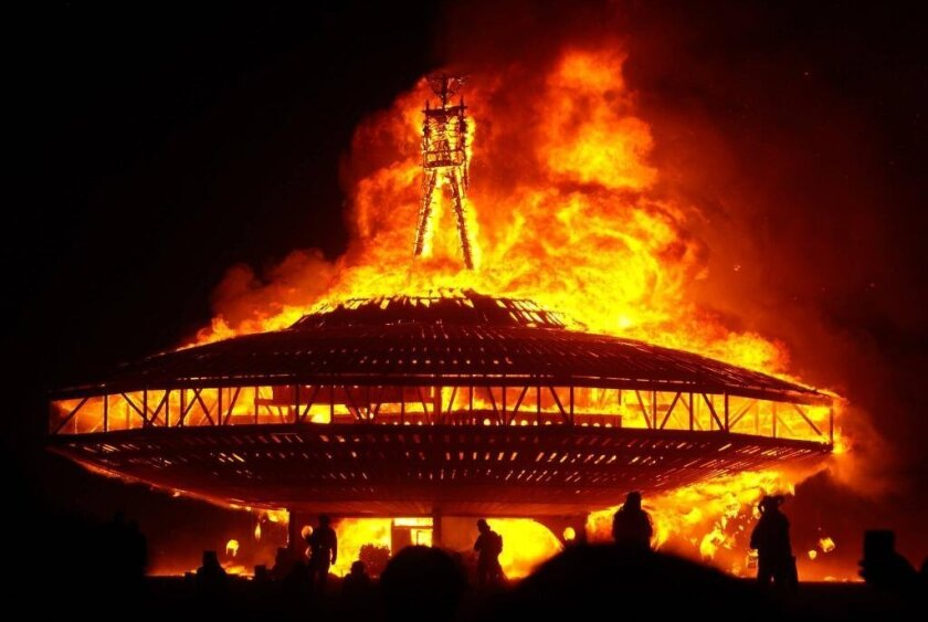 Burning Man 2013's grand finale.
