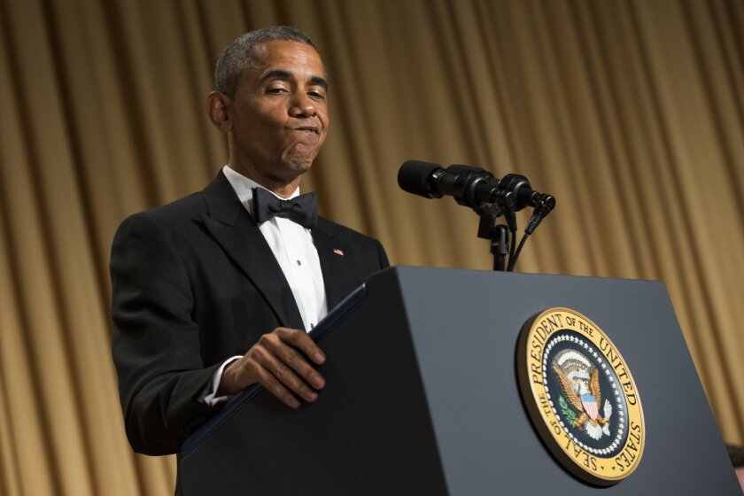 President Obama delivers jabs at Republicans' expense at the 2015 White House Correspondents' Assn. dinner.