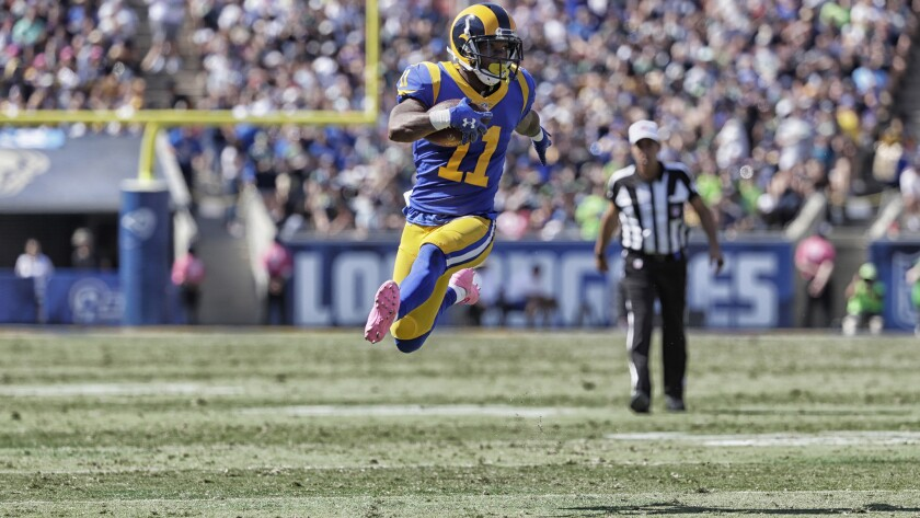 Tavon Austin scored the Rams' only touchdown against the Seahawks on Sunday but he muffed two punts, losing one.