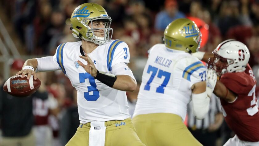 UCLA quarterback Josh Rosen leads the nation's top-ranked passing attack and is on pace to throw for more than 5,000 yards this season.