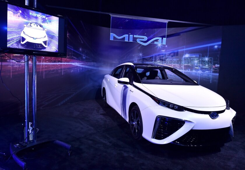 Toyota's Mirai fuel cell vehicle