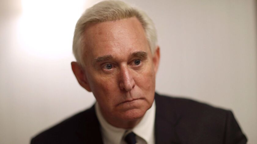 Former Trump Adviser Roger Stone Signs Copies Of His New Book On President Trump