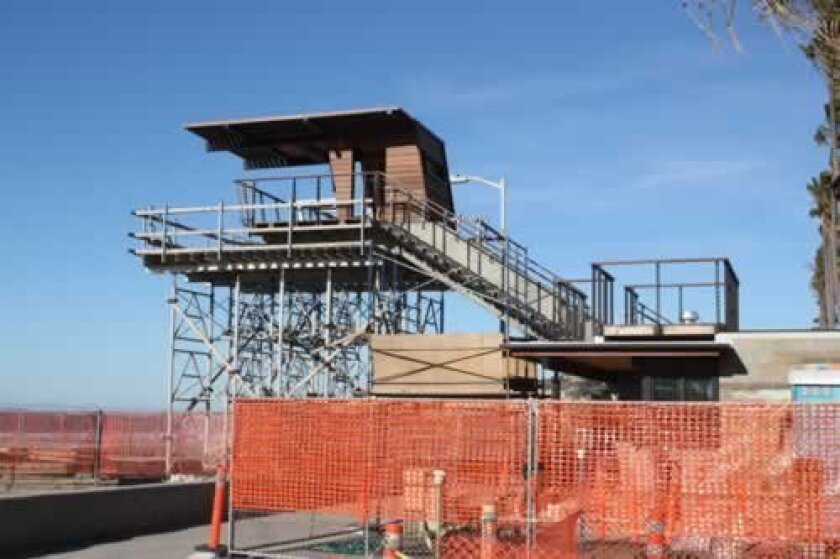 The lifeguard tower at la Jolla Shores nears completion. Ashley Mackin