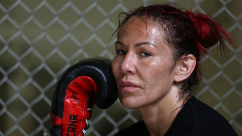 """COSTA MESA CA. JULY 19, 2017: Cris """"Cyborg"""" Justino was at a gym in Costa Mesa on July 19, 2017. She"""