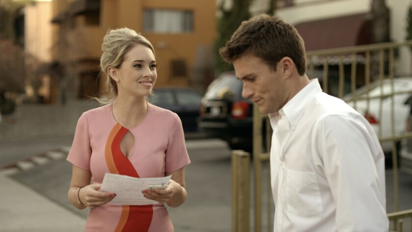 """Laura Ashley Samuels and Scott Eastwood in the film """"Walk of Fame."""""""
