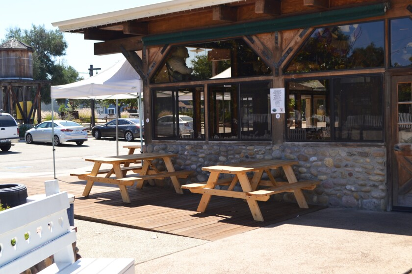 Hamburger Factory is one of the Poway restaurants to receive picnic tables from the city for outdoor dining.