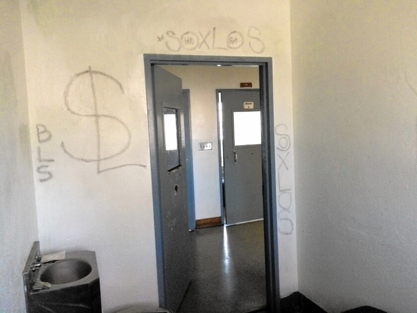 Graffiti on the walls of a cell at Central Juvenile Hall.