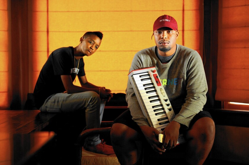 Syd Tha Kid, left, and Matt Martians of the Internet are an L.A.-based R&B group that began as an offshoot of Odd Future.