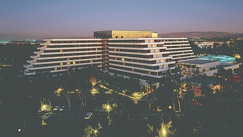 The Fairmont Newport Beach hotel, pictured in 2006, has been sold for $125 million and temporarily rebranded as The Duke Hotel.