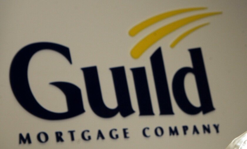 Logo of San Diego-based Guild Mortgage.