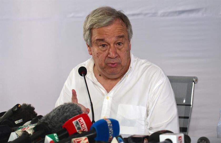 El secretario general de la ONU, António Guterres, ofrece una rueda de prensa. EFE/Archivo