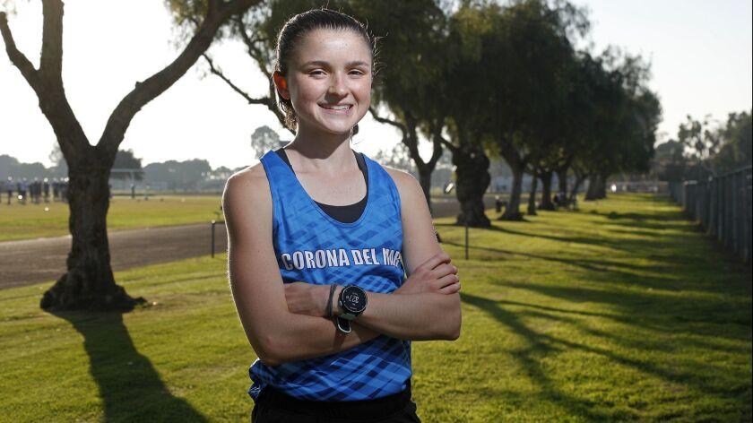 Corona del Mar High girls' cross-country sophomore Annabelle Boudreau is the High School Female Athl