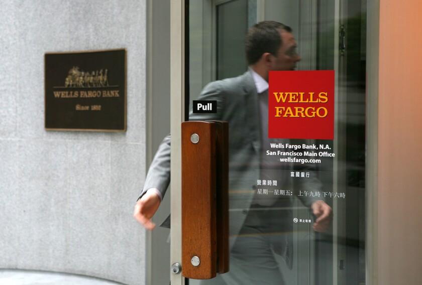 A Wells Fargo bank branch.
