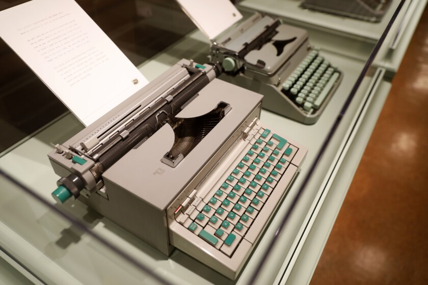 LOS ANGELES, CALIF. -- WEDNESDAY, OCTOBER 31, 2018: Uncommon Type, Tom Hanks typewriter collection,