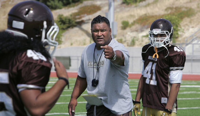 Pulu Poumele, who died Saturday morning, was head coach at El Camino for four seasons.