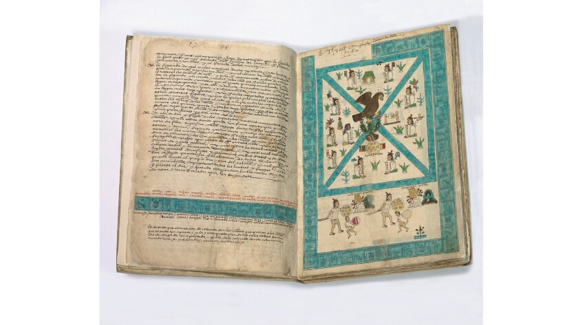 The Codex Mendoza, circa 1541, paired Aztec pictograms with Spanish definitions and descriptions of Aztec life.