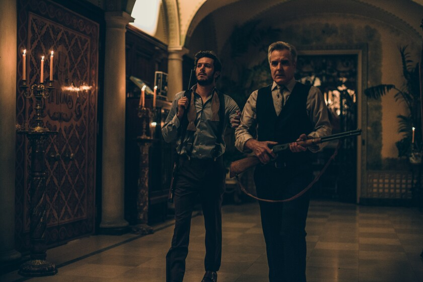 "From left, Adam Brody and Henry Czerny in a scene from Fox Searchlight's ""Ready or Not."""