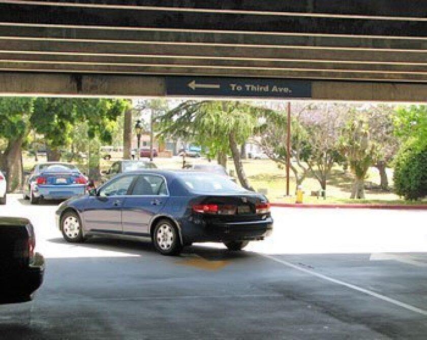 THE SITE: Third Avenue parking structure, Chula Vista