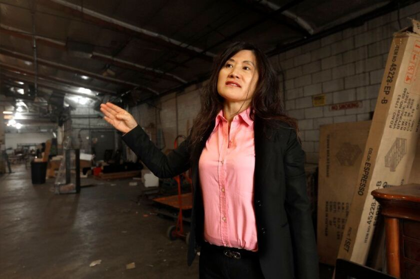 Fenglan Liu, 50, is leading the fight against marijuana production in El Monte.
