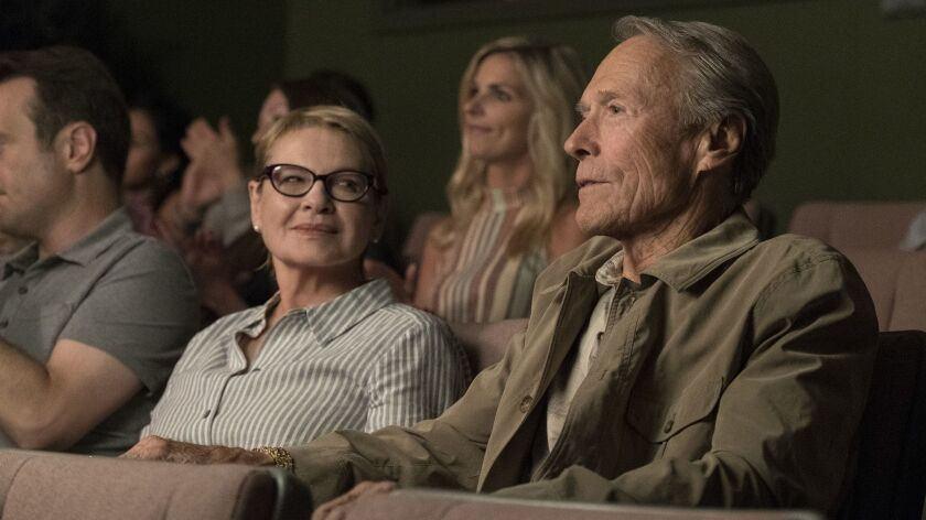 "Dianne Wiest and Clint Eastwood in ""The Mule."""
