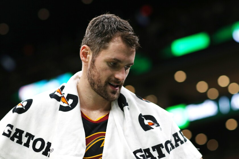 Cavaliers forward Kevin Love is one of many NBA players to donate time and money to helping COVID-19 relief efforts.