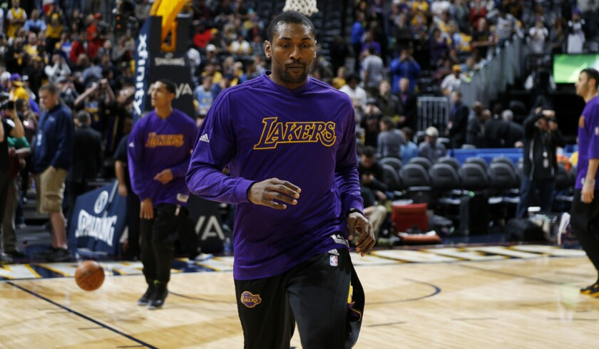 Metta World Peace proud to earn a minimum contract