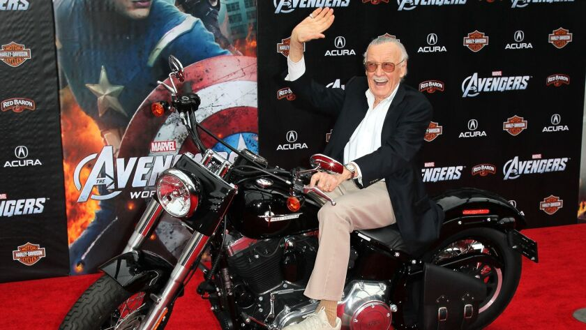 """Stan Lee attends the premiere of """"Marvel's The Avengers"""" in 2012 in Hollywood, California."""