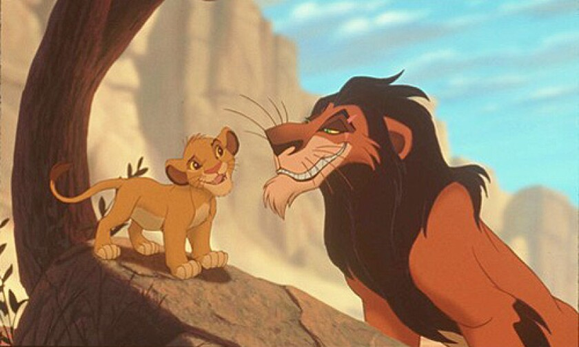 """A scene from the movie """"The Lion King."""""""