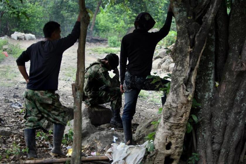 Fotografía de varios miembros de las Fuerzas Armadas Revolucionarias de Colombia (FARC). EFE/Archivo