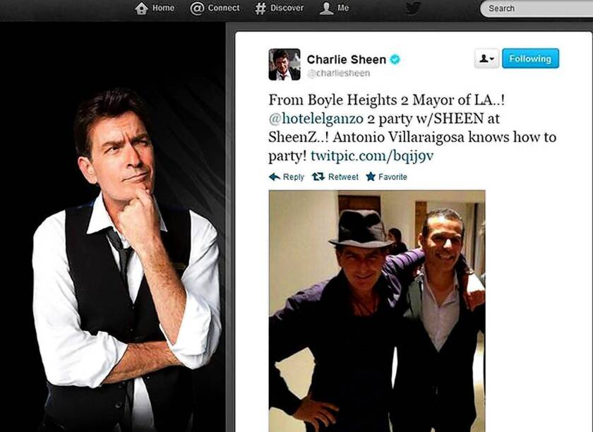 Charlie Sheen downplays Baja encounter with L.A. mayor