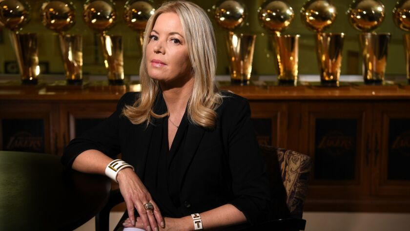 Co-owner Jeanie Buss has been guiding the Lakers since winning a battle with her older brothers for control of the franchise.