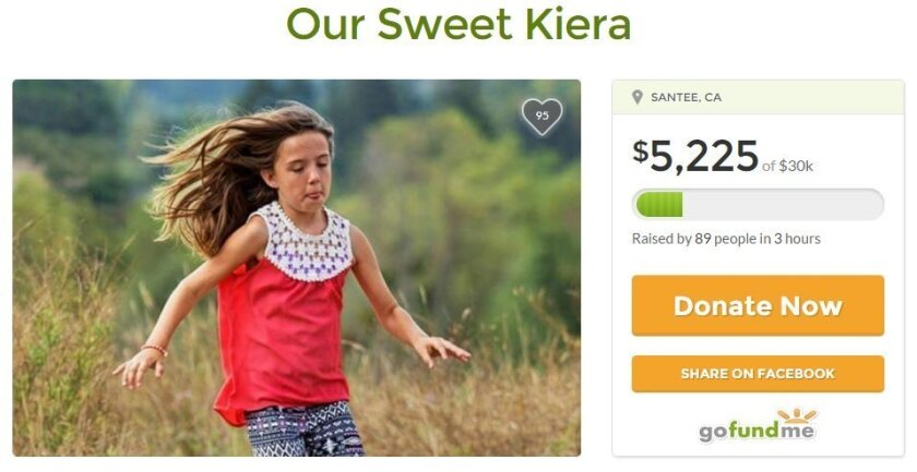 A GoFundMe page was started to help Kiera Larsen's family pay funeral costs.