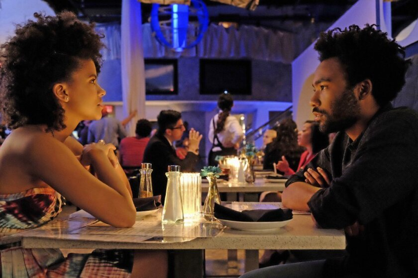 "Zazie Beetz and Donald Glover in ""Atlanta,"" a new series that could do well at this year's Golden Globes."