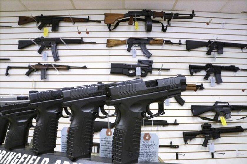 Assault weapons, hand guns