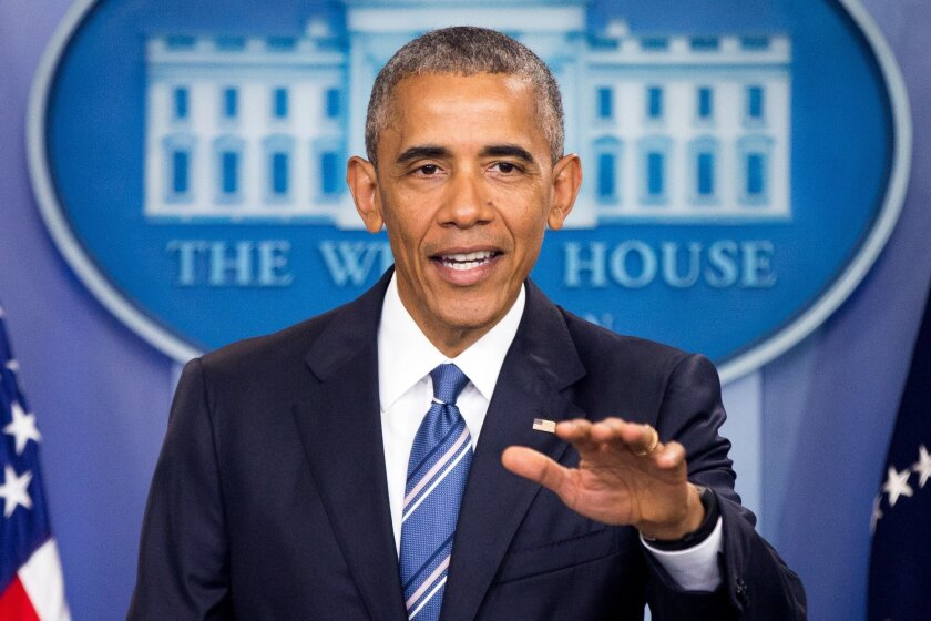 President Barack Obama speaks in the White House briefing room in Washington, Thursday, June 23, 2016, on the Supreme Court decision on immigration. A tie vote by the Supreme Court is blocking President Barack Obama's immigration plan that sought to shield millions living in the U.S. illegally from