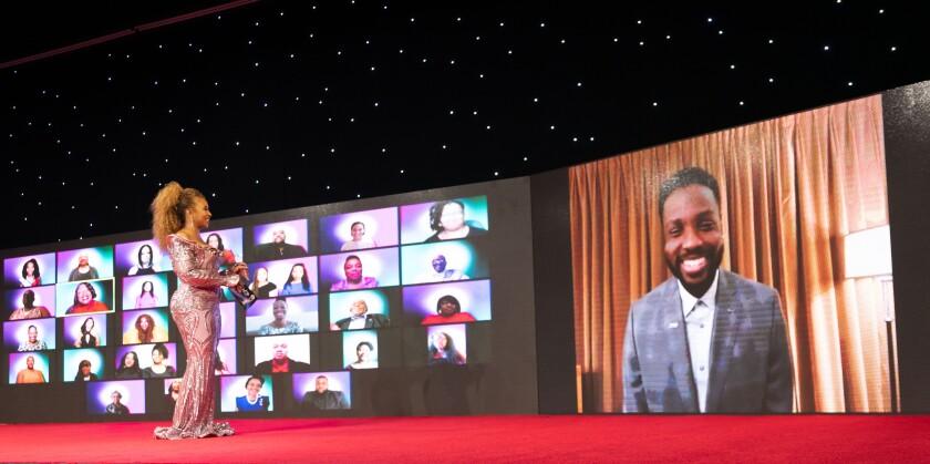 Tanika Ray and Dayo Okeniyi at the 52nd NAACP Image Awards Virtual Experience Pre-Show