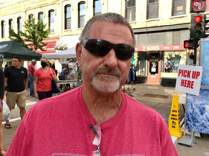 Tom Winkels, a Trump supporter, believes the polls are wrong about support for the president in Wisconsin.