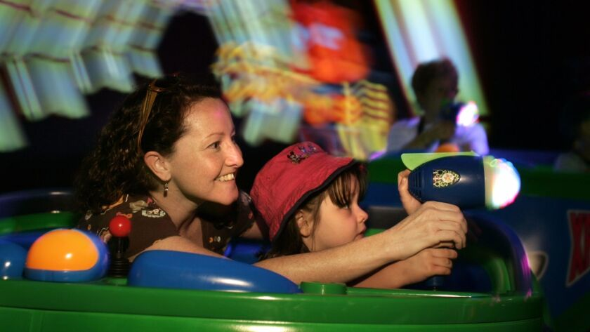 The Disneyland ride Buzz Lightyear Astro Blasters opened in 2005. Interactive gaming rides have beco