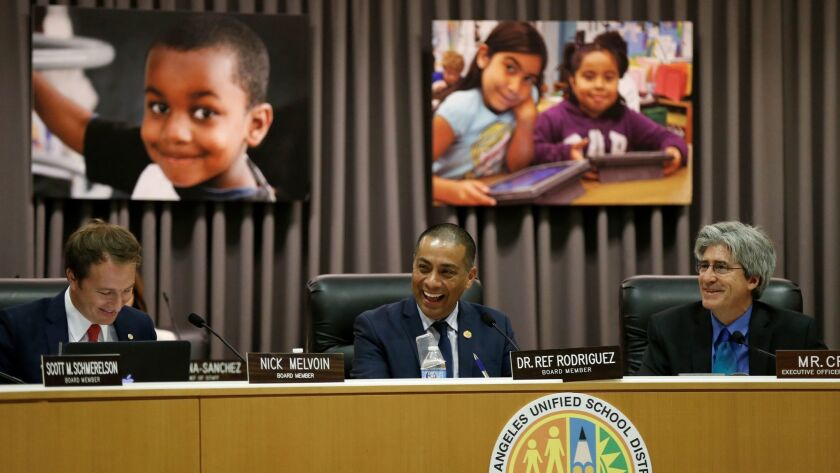 The new Los Angeles school board, the first with a pro-charter majority, meets for the first time Ju