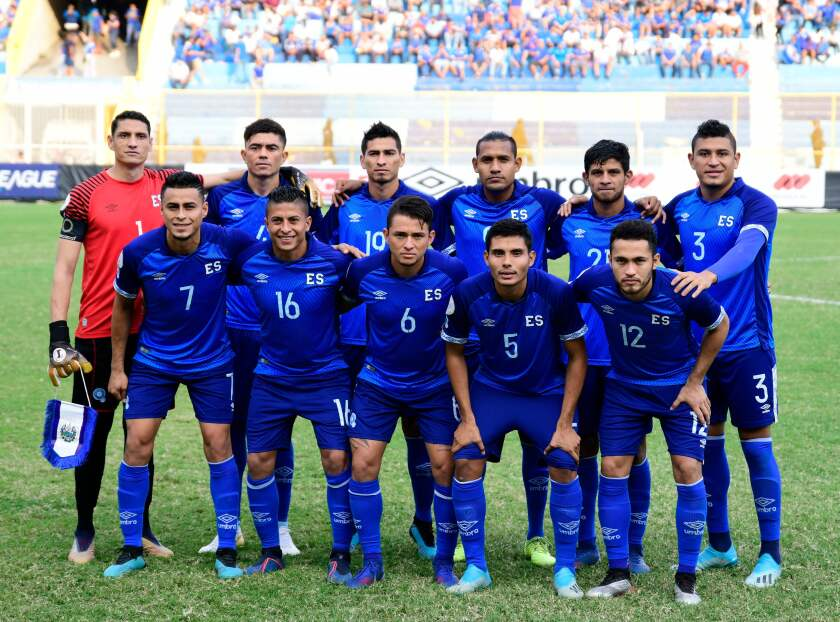 El Salvador's football team during a Concacaf
